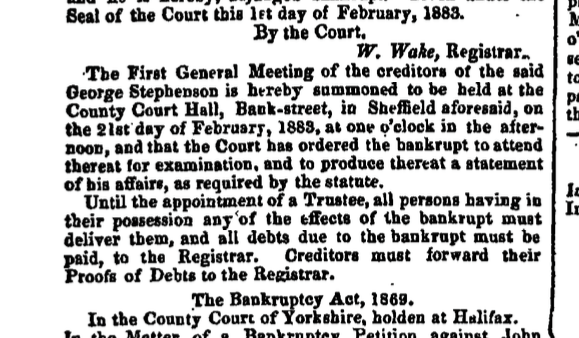 The London Gazette - 6 February 1883